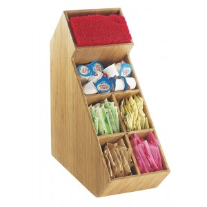 Bamboo Stir Stick and Condiment Organizer